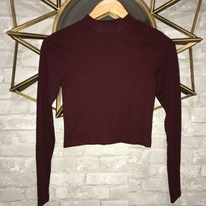 Maroon Cropped Shirt